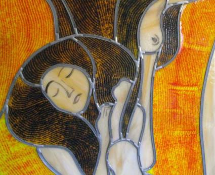 """Σύνθεση βιτρώ """"Οι κόρες του Κlimt"""""""