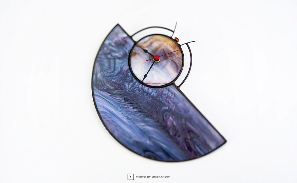 """Επιτοίχιο ρολόι """"abstract"""""""